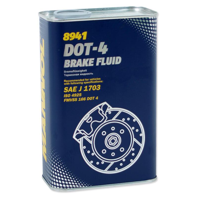 MANNOL BRAKE FLUID DOT-4 1 Liter Bremsflüssigkeit SAE J 1703