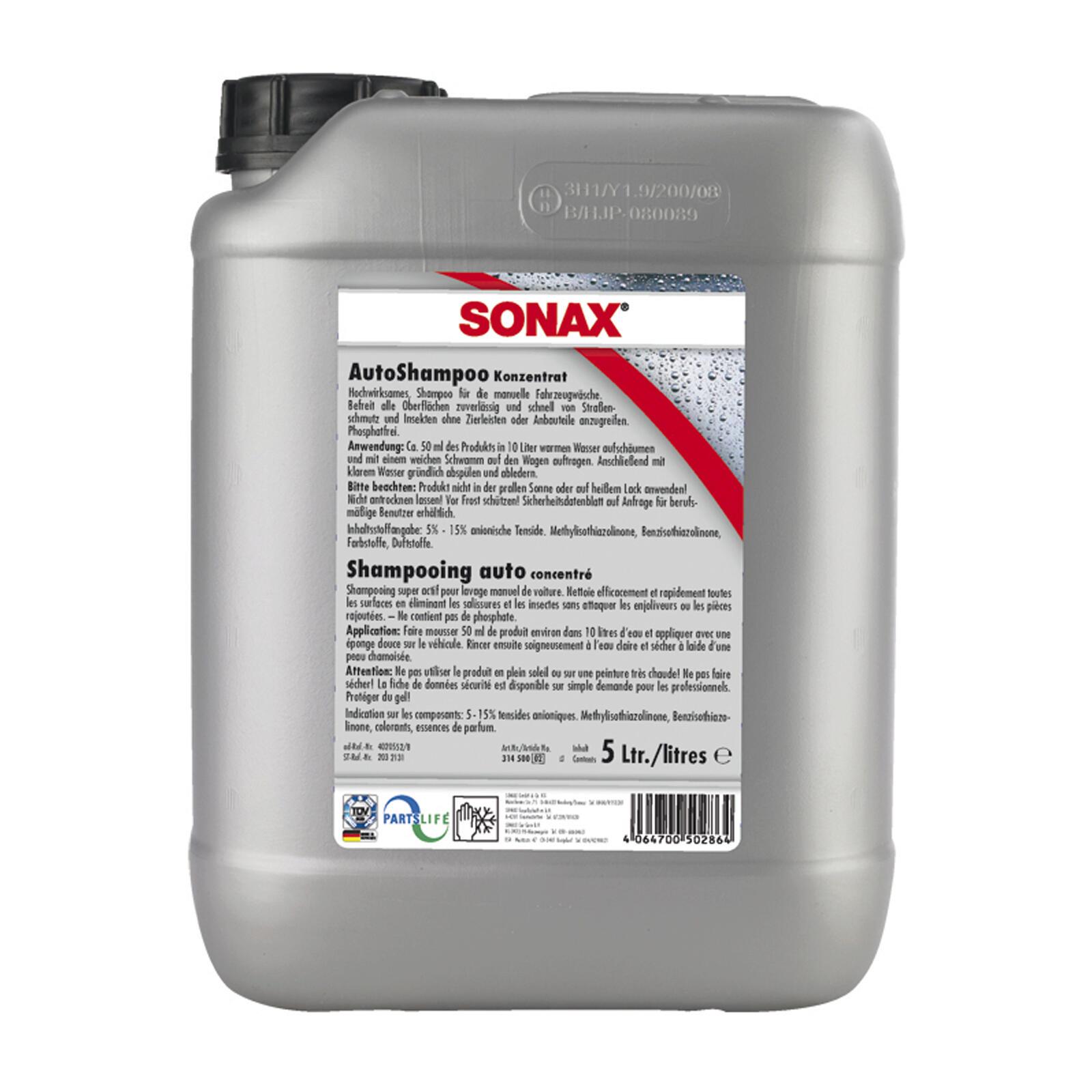 SONAX AutoShampoo Konzentrat 5l