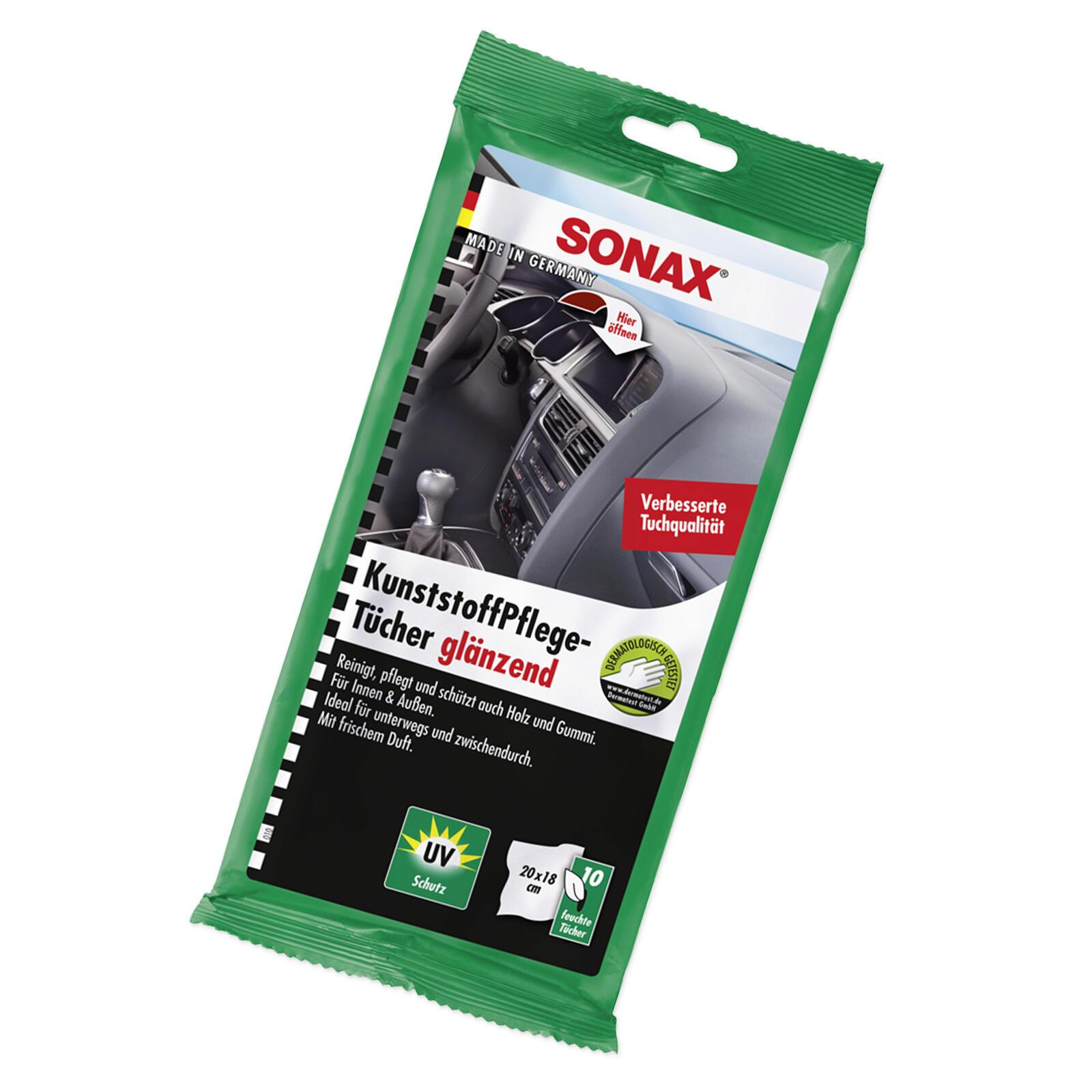 SONAX KunststoffPflegeTücher glänzend