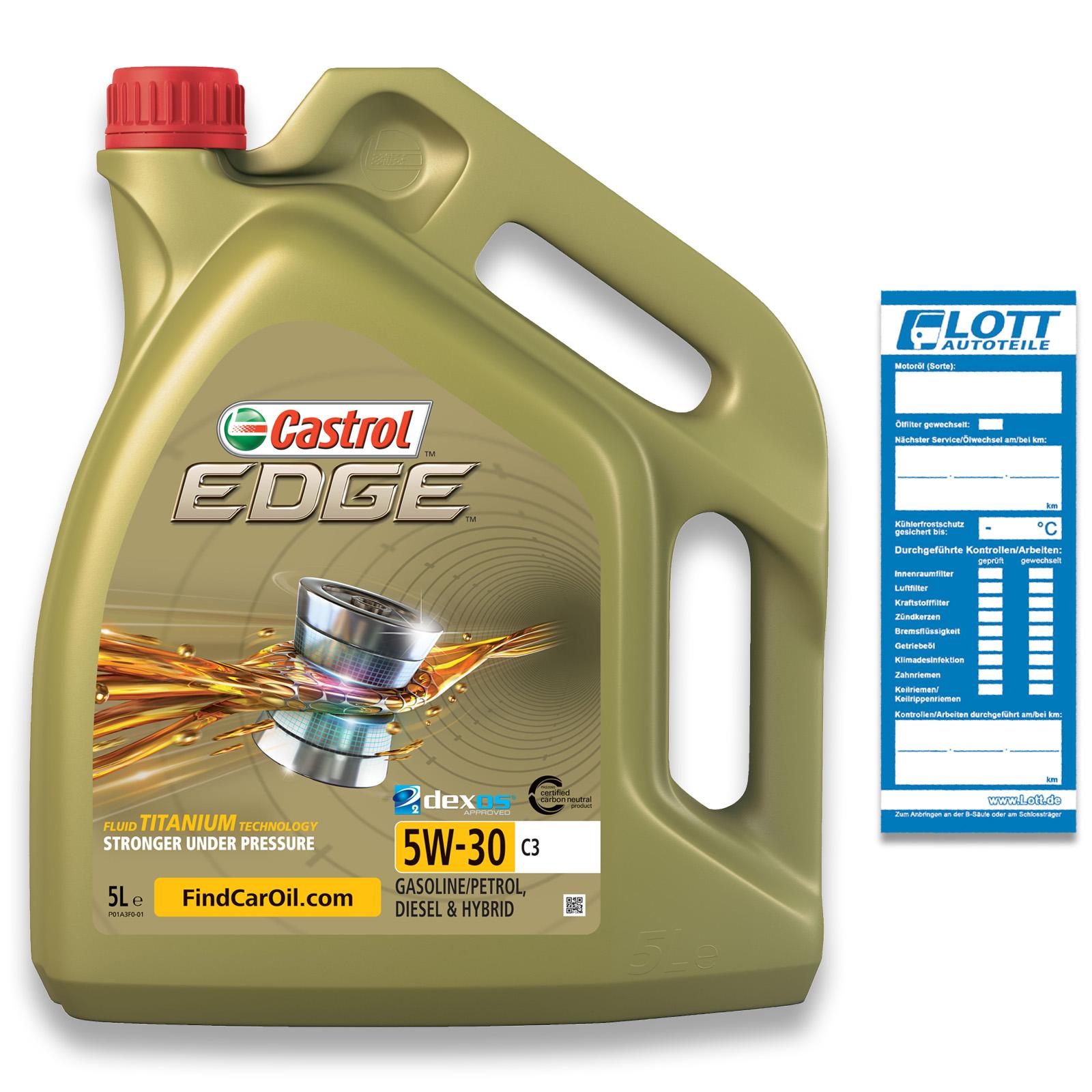 5L Castrol Motoröl Edge Titanium FST C3 5W-30
