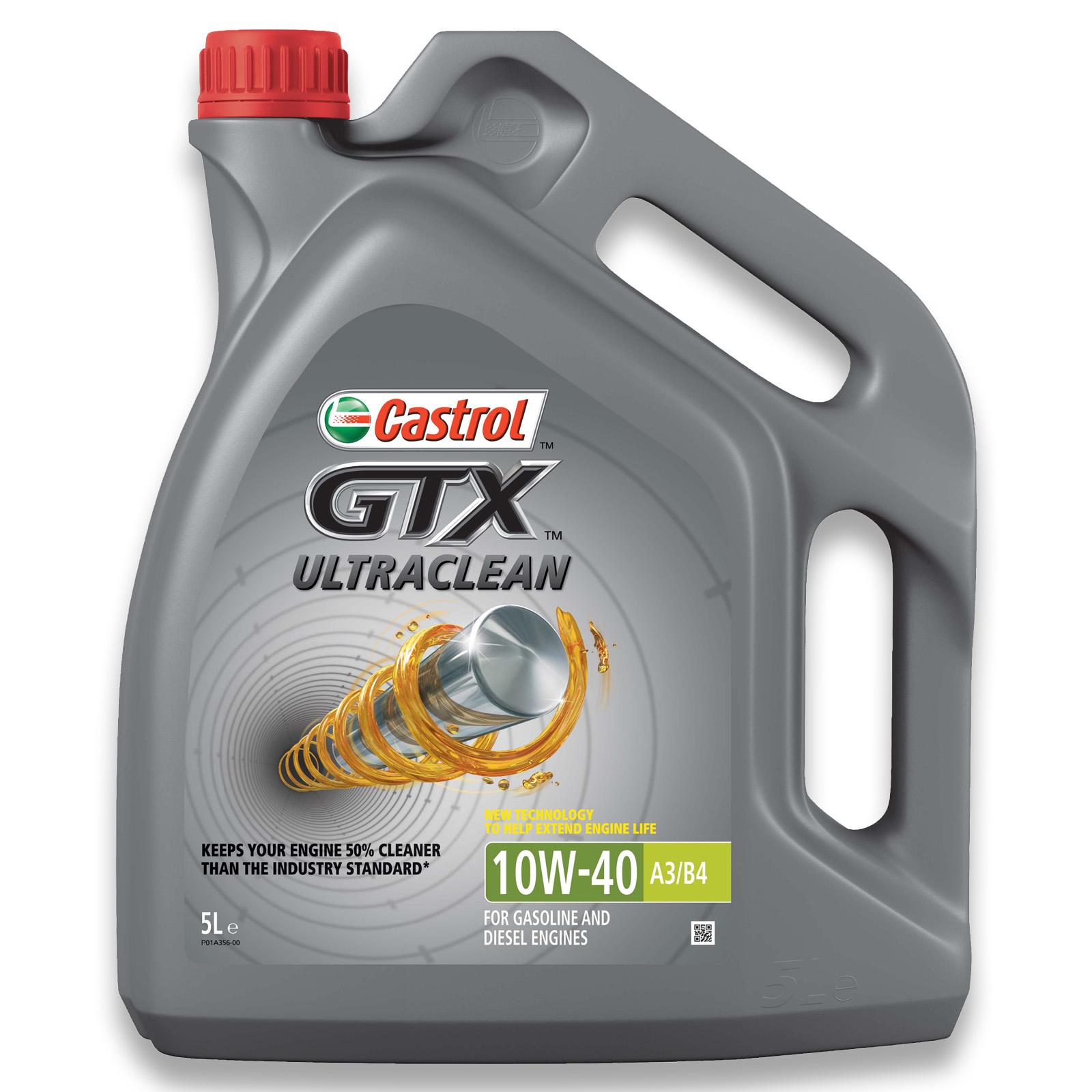 5L CASTROL GTX ULTRACLEAN 10W-40
