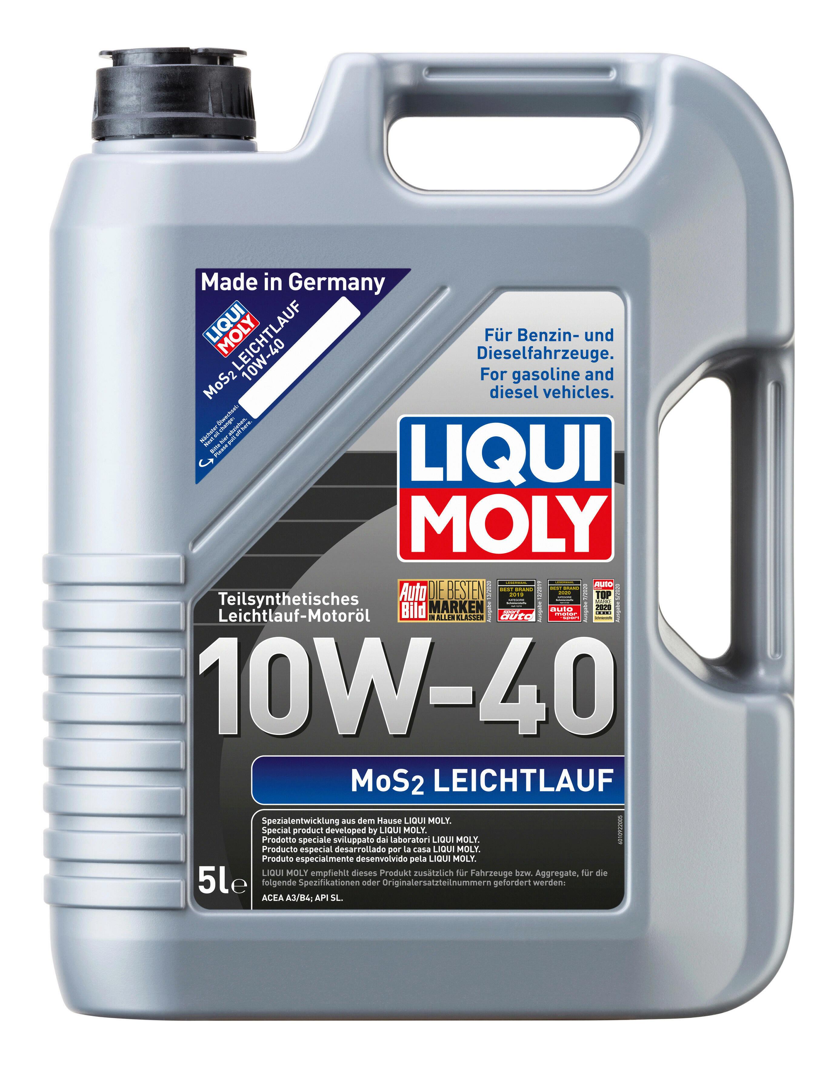 Liqui Moly Leichtlaufmotorenöl MoS2 10W-40 5L