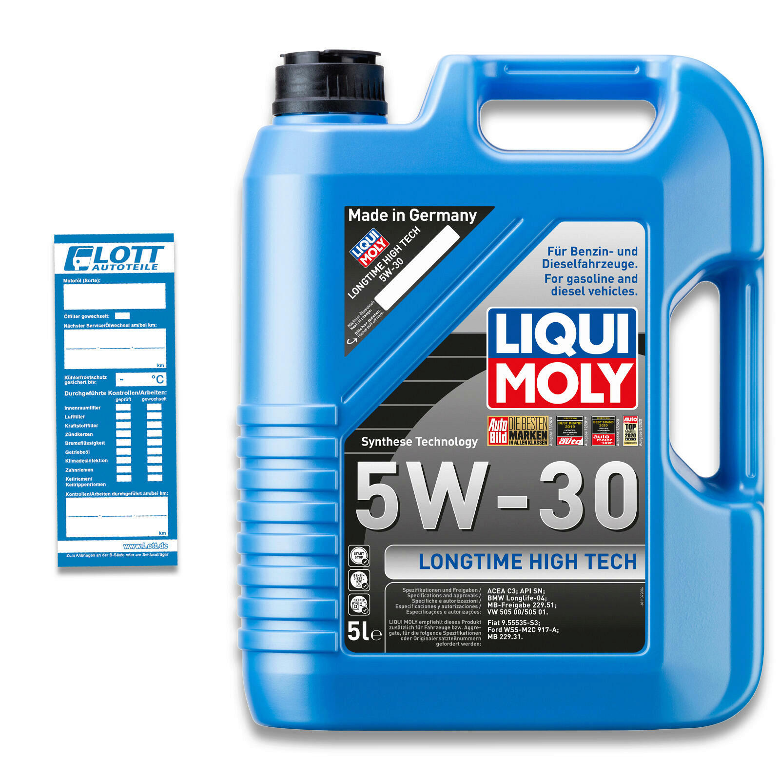 Liqui Moly Leichtlaufmotorenöl Longtime High Tech 5W-30 5L