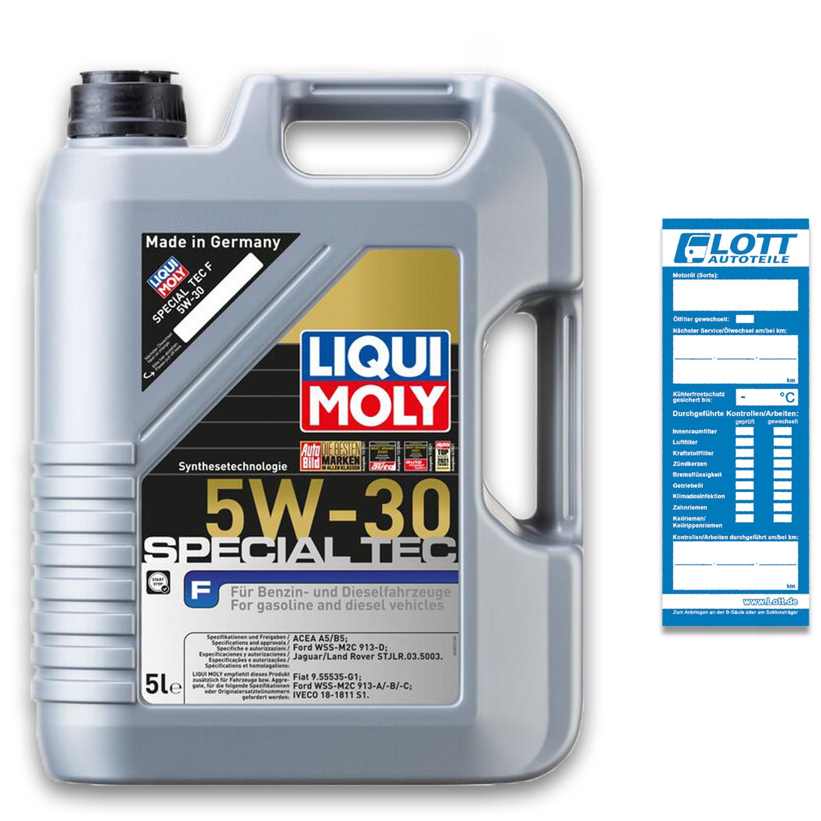 Liqui Moly Leichtlaufmotorenöl Special Tec F 5W-30 5L