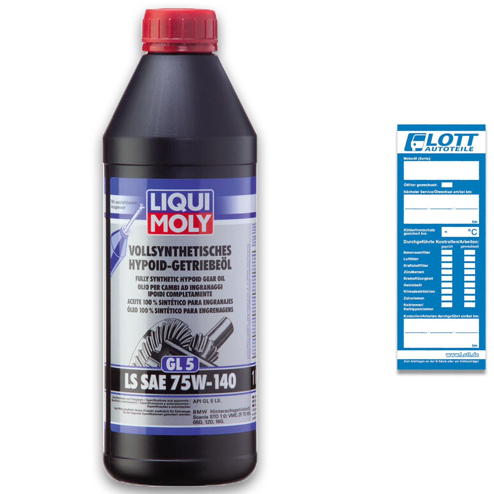 Liqui Moly Hypoid-Getriebeöl LS SAE 75W-140 1L