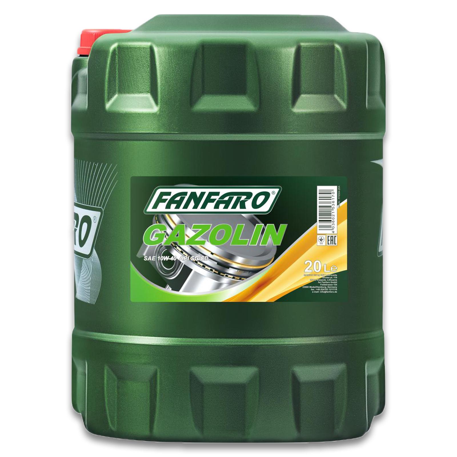 FANFARO GAZOLIN 10W-40 MOTORÖL 20L