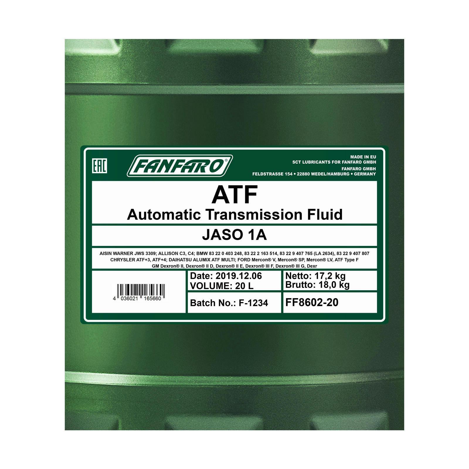 20L FANFARO ATF Getriebeöl Universal
