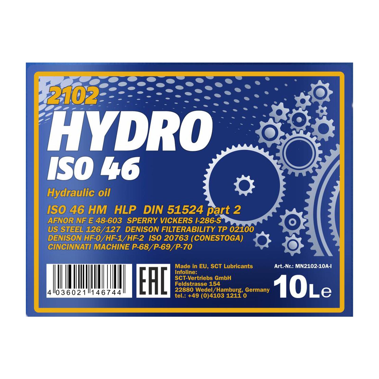 10L Mannol Hydrauliköl ISO 46