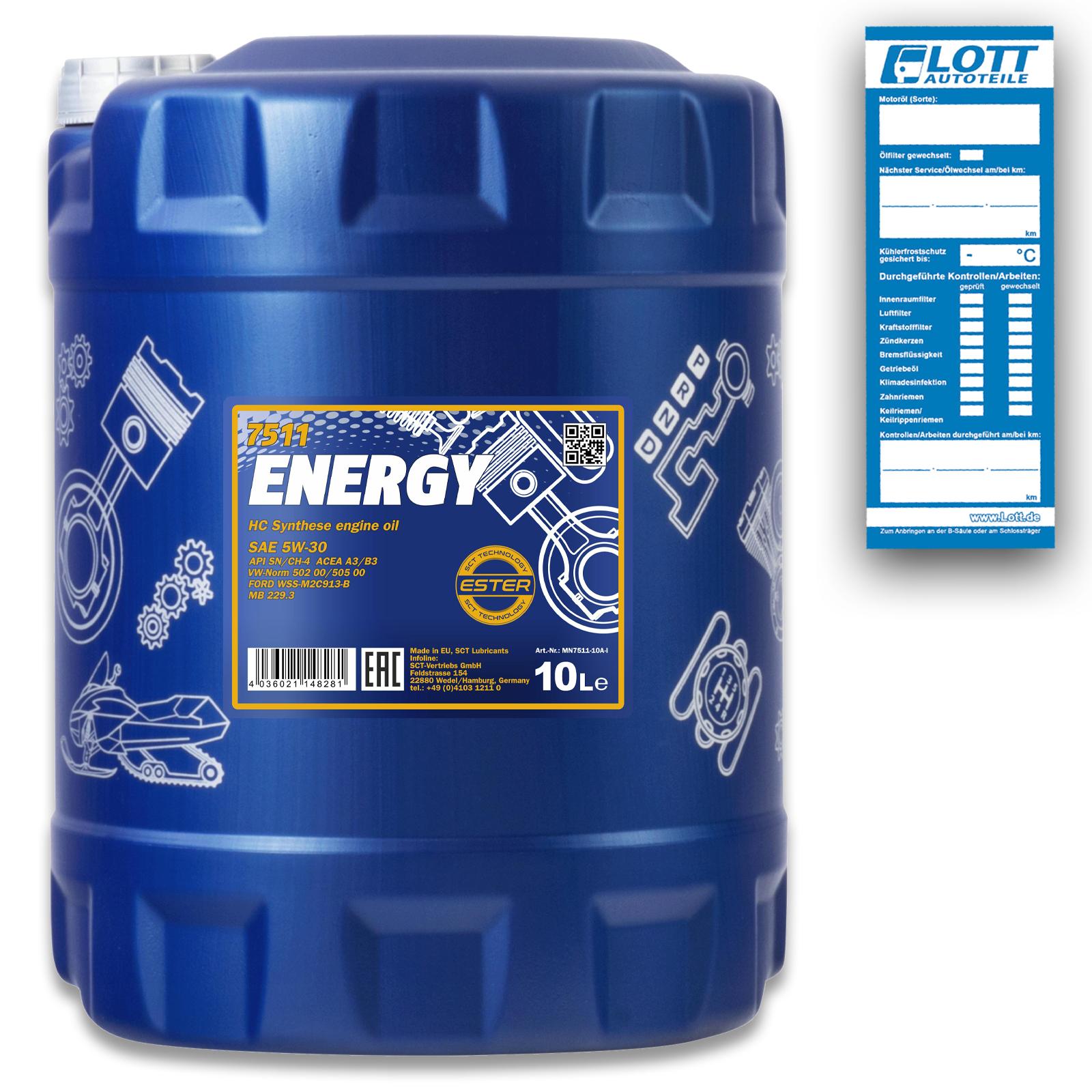 Mannol Energy 5W-30 Motoröl 10L