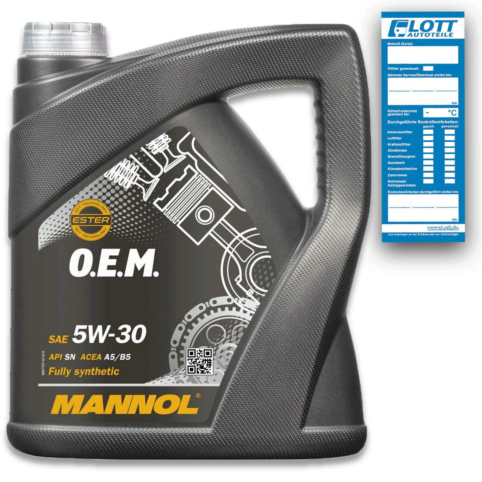 Mannol O.E.M. Motoröl 5W-30 4L