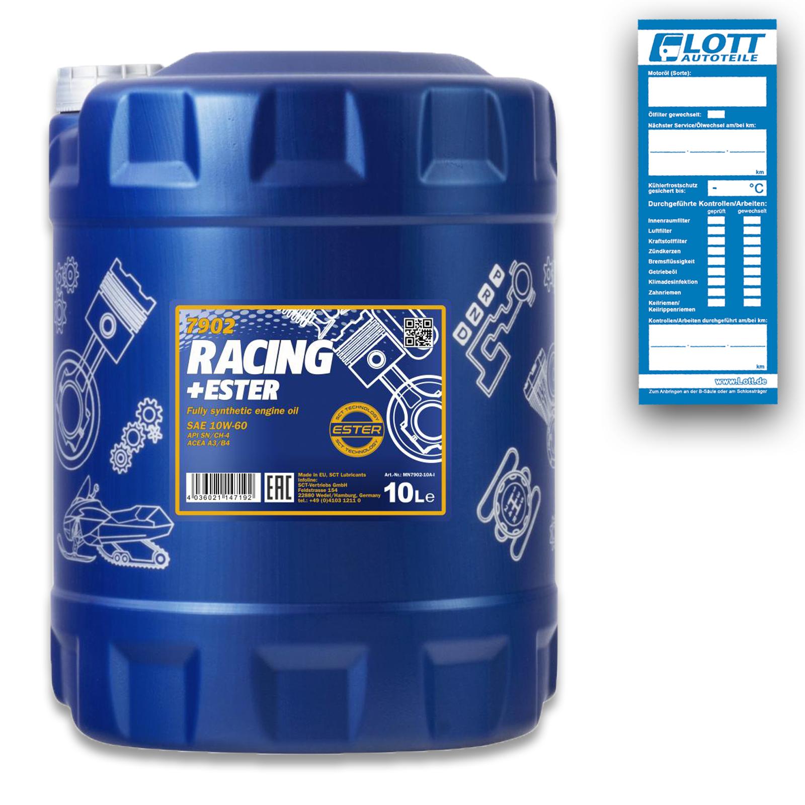 10L Mannol Racing+Ester 10W-60