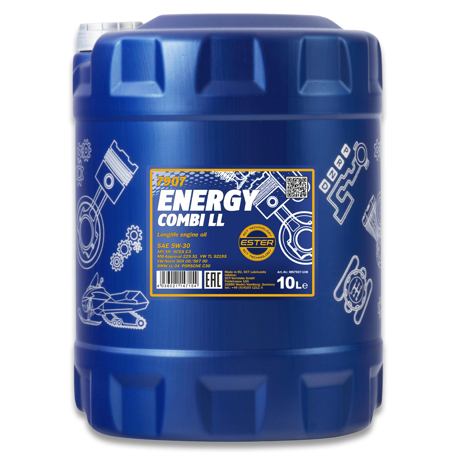 Mannol Motoröl Energy Combi LL 5W-30 10L