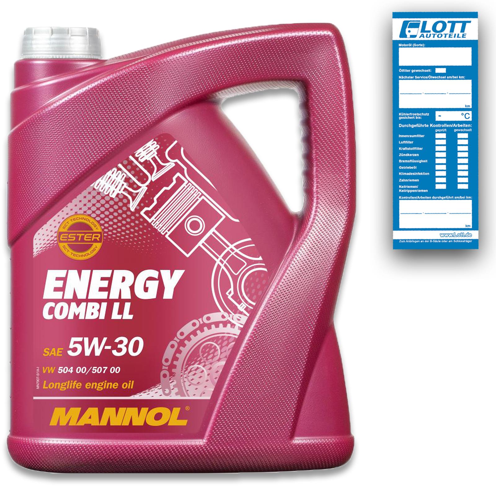 MOTORÖL MANNOL ENERGY COMBI LL 5W-30 5 Liter