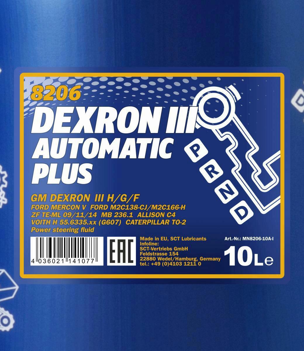10L Mannol Dexron 3 Automatikgetriebeöl