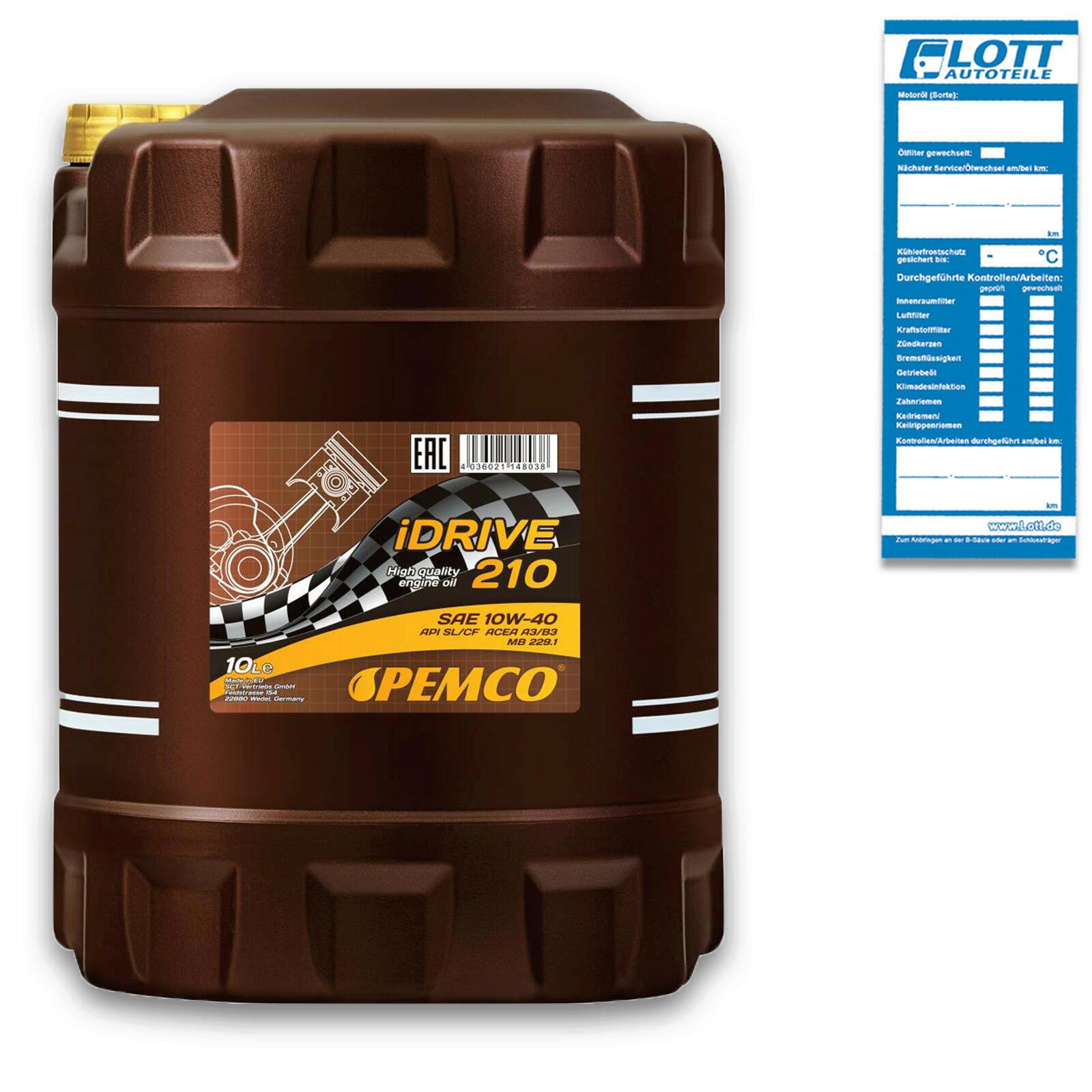 Pemco Motoröl iDRIVE 210 10W-40 10L