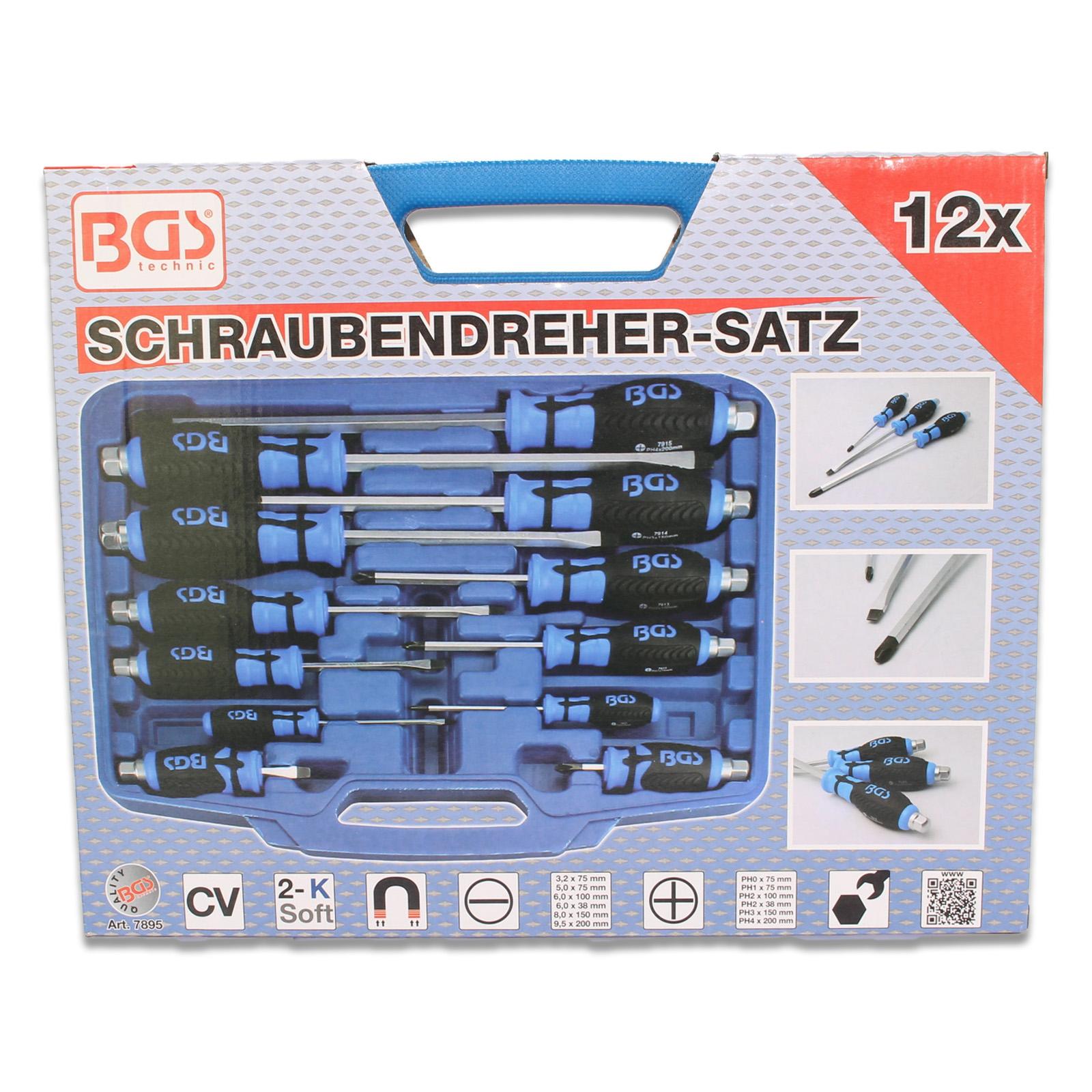 BGS Schraubendrehersatz Kreuz- und Schlitzdreher