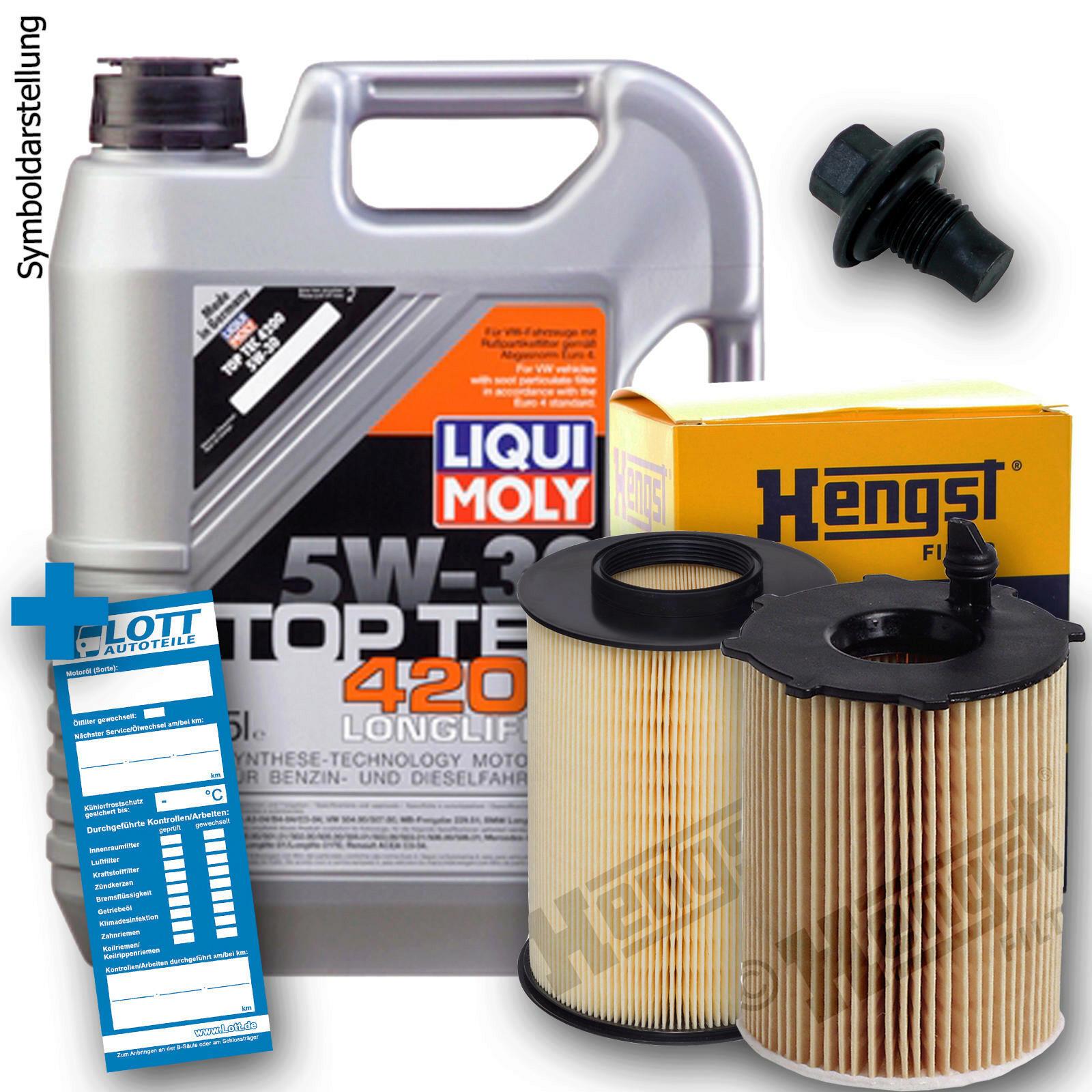 Liqui Moly Motoröl + Ölfilter + Luftfilter + Ablassschraube