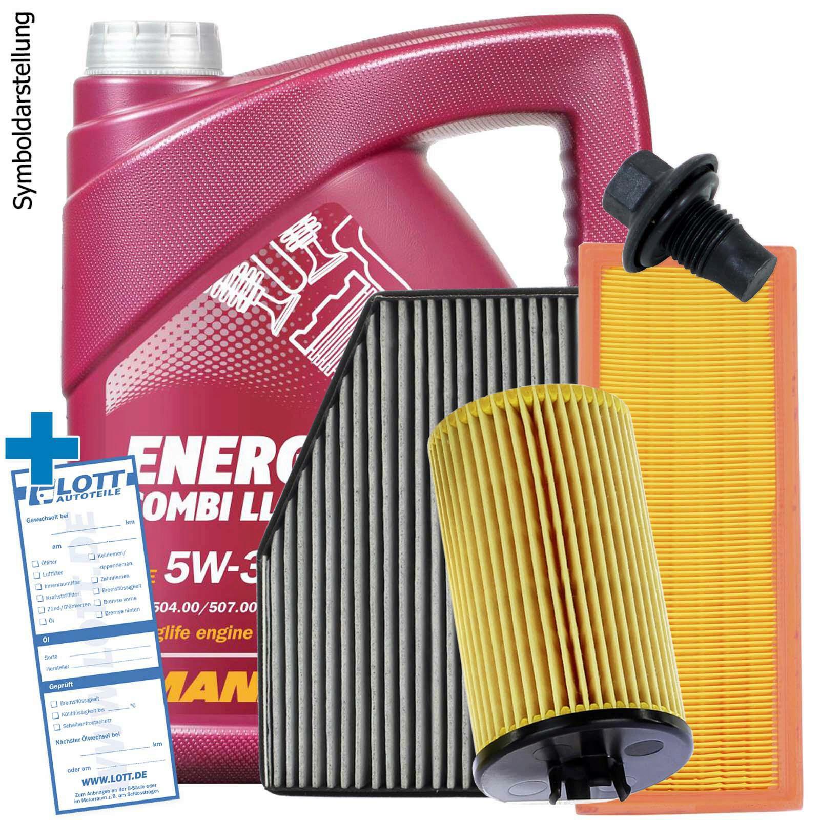 Mannol Motoröl + Ölfilter + Luftfilter + Innenraumfilter + Ablassschraube