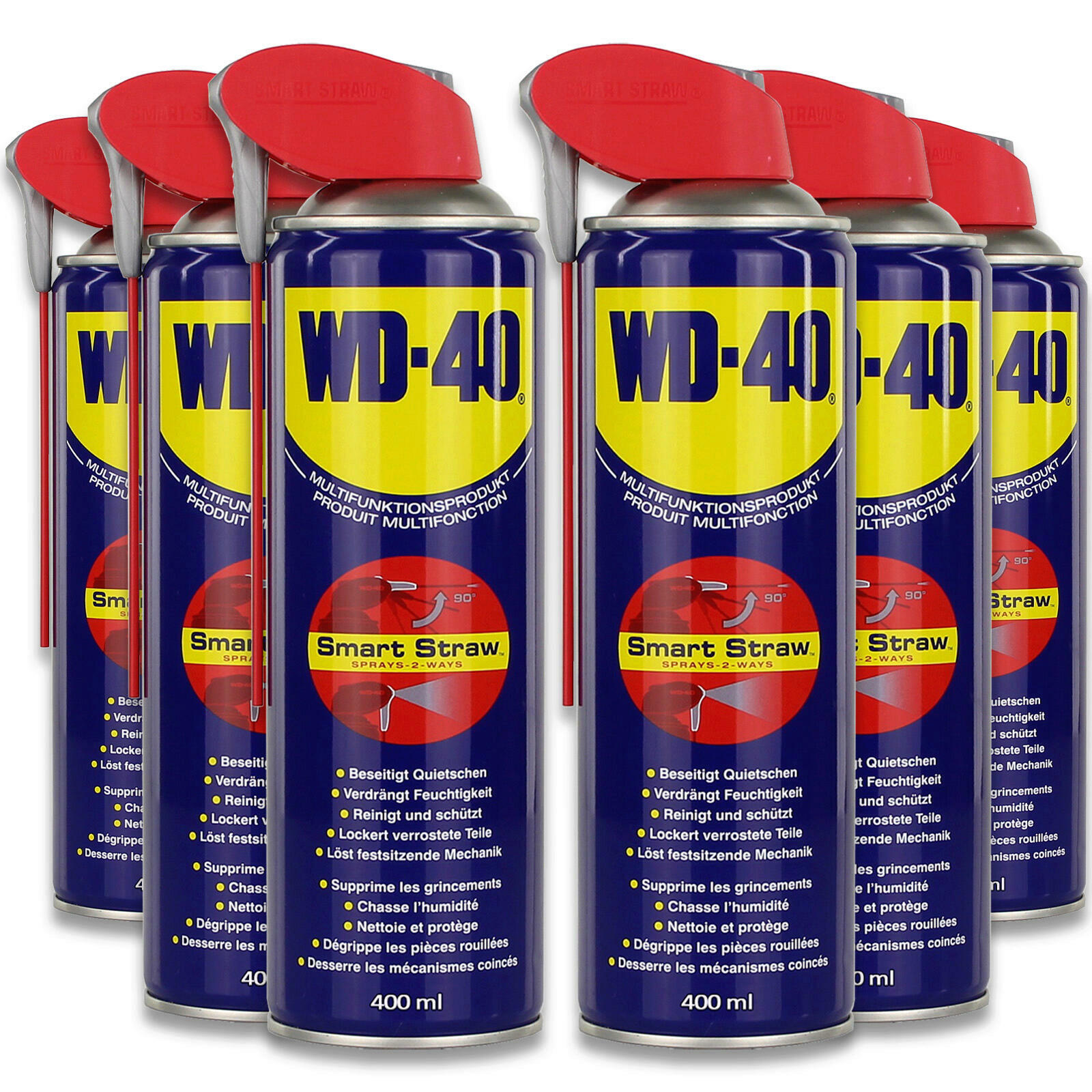 6x WD-40 Rostlöser Smart Straw 400ml