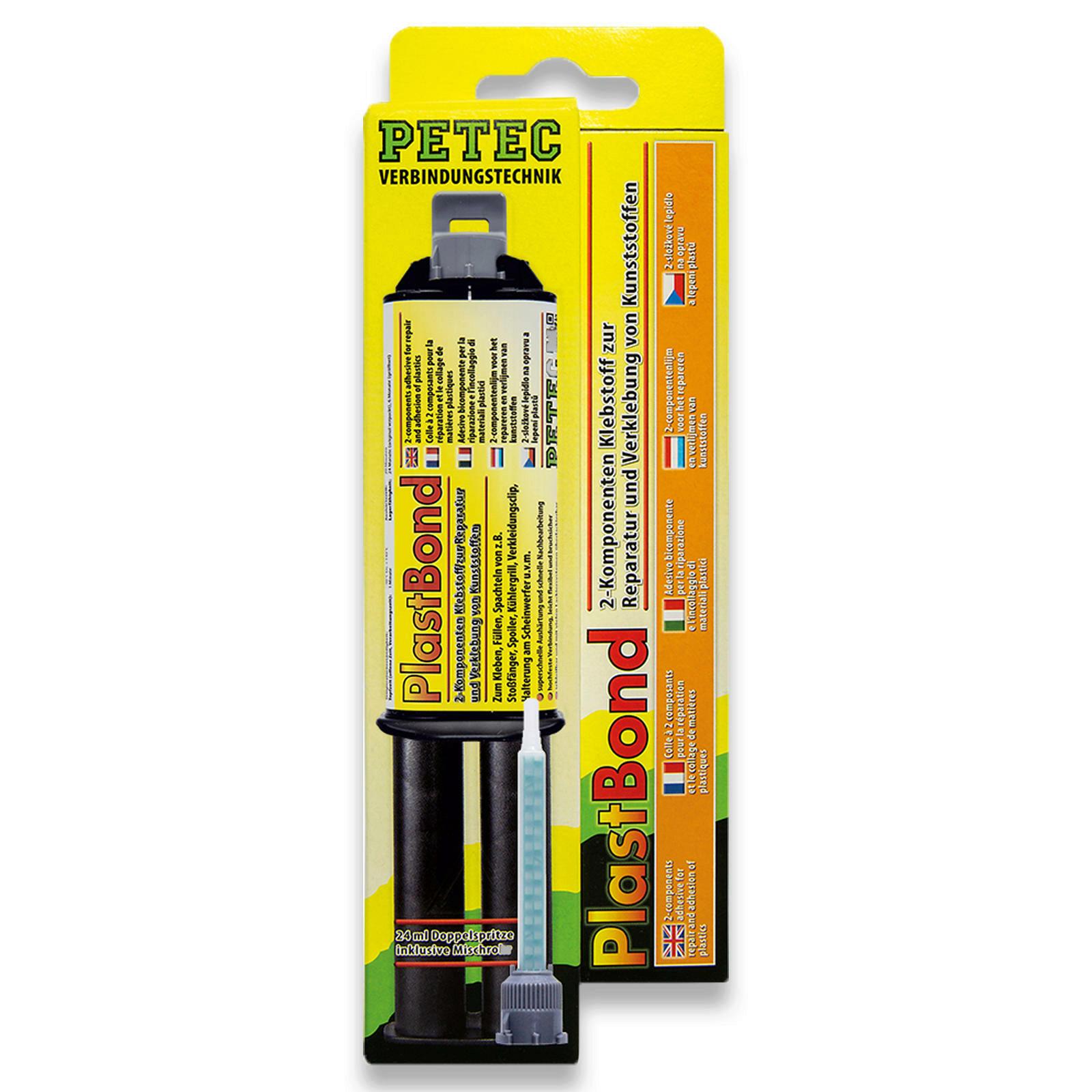 PETEC PlastBond 24ml 2-Komponenten-Kleber Schwarz