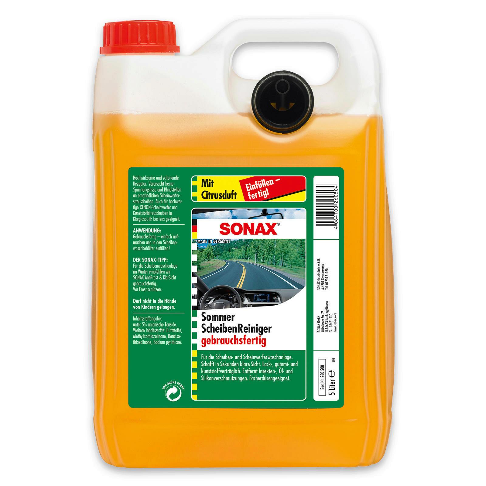SONAX ScheibenReiniger gebrauchsfertig Citrus 5l