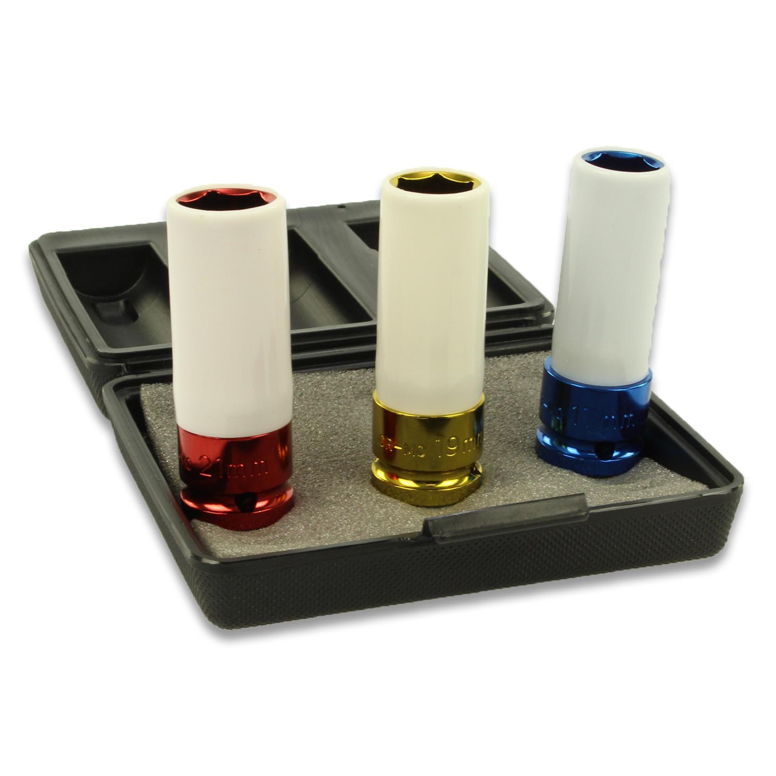Kraft-Schoneinsatz-Satz | Antrieb Innenvierkant 12,5 mm (1/2) | SW 17 - 19 - 21 mm | 3-tlg