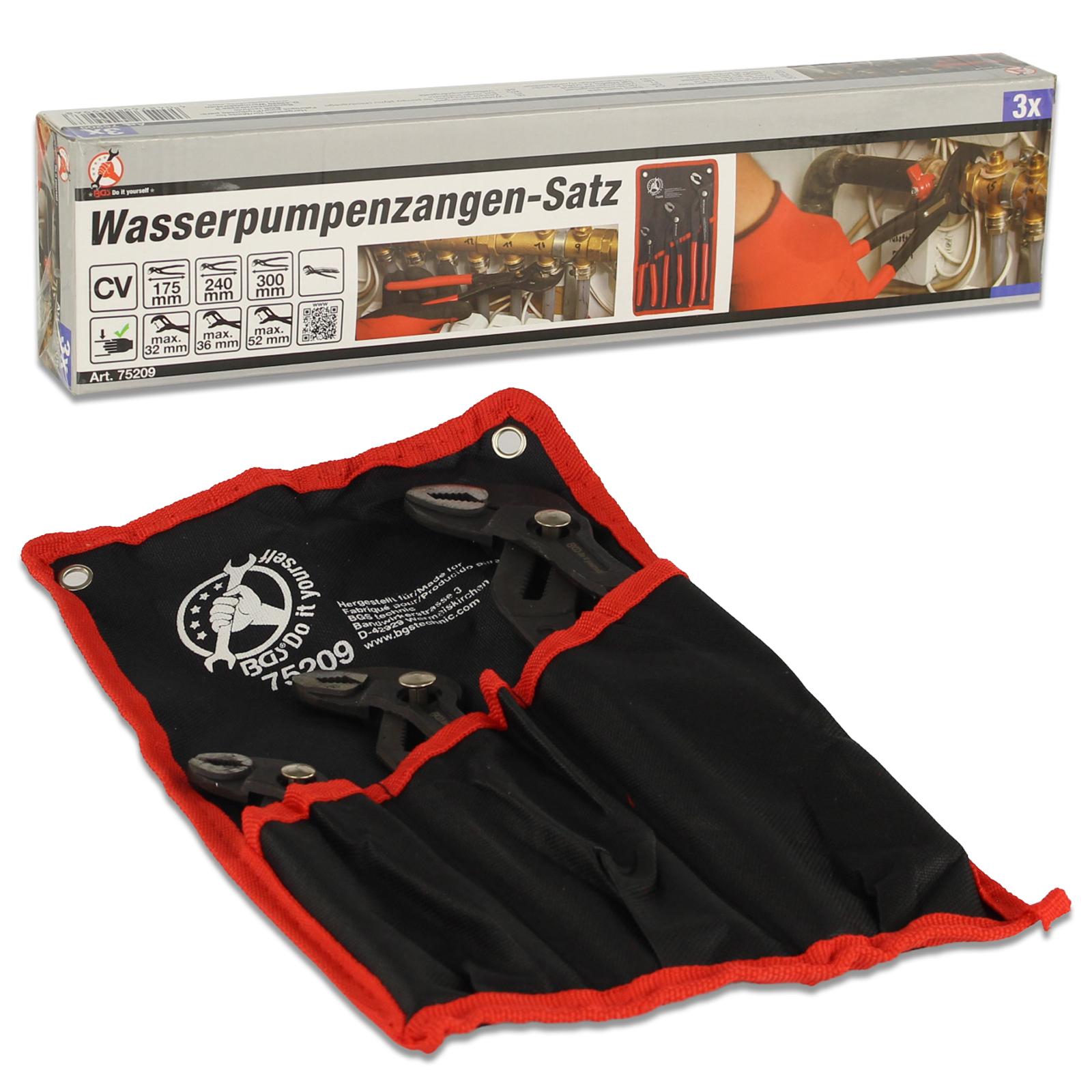 Wasserpumpenzangen-Satz | 175 / 240 / 300 mm | 3-tlg.