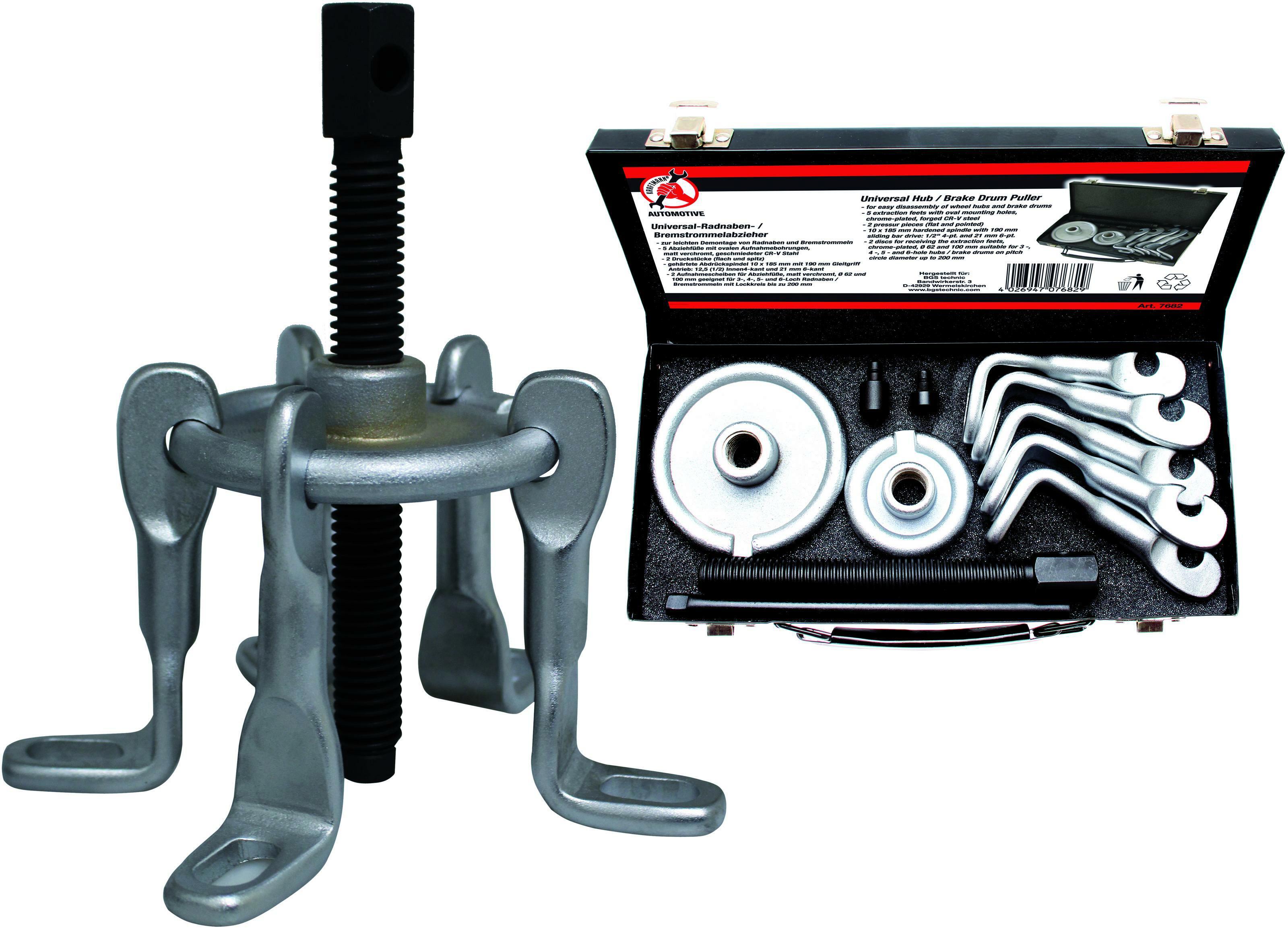 Bremstrommelabzieher / Antriebswellenausdrücker, 5-armig | universal