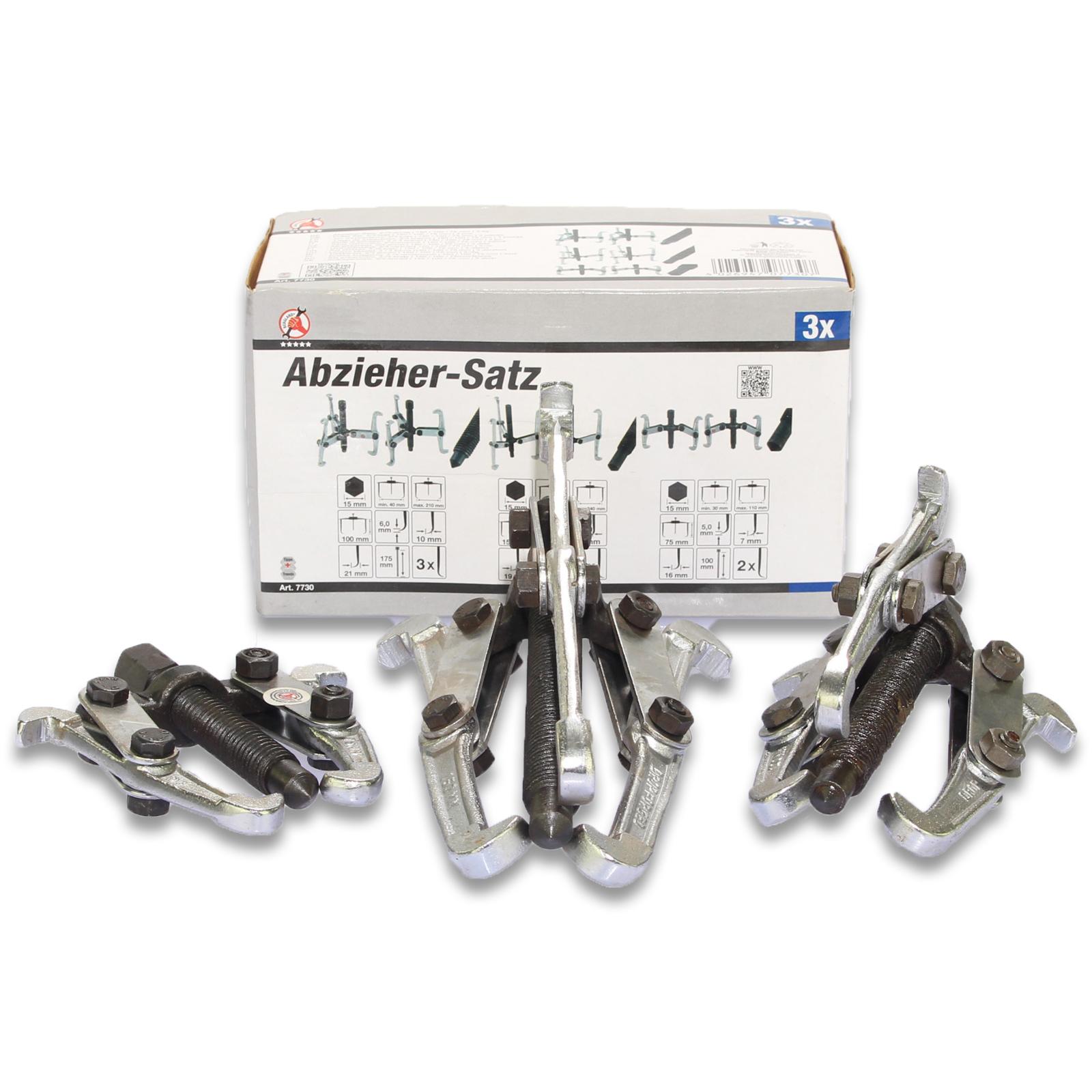 Abzieher-Satz, 2-/3-armig | 150 / 100 / 75 mm | 3-tlg.