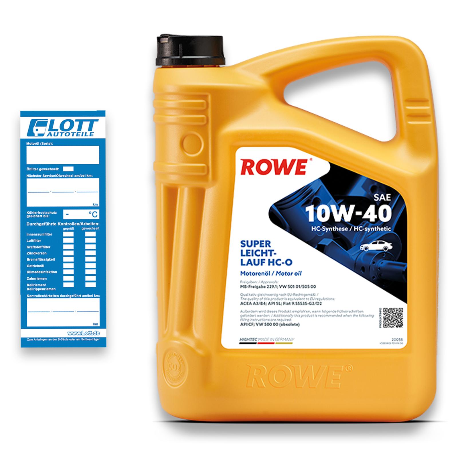 5L ROWE Hightec Leichtlauf 10W-40 Motoröl