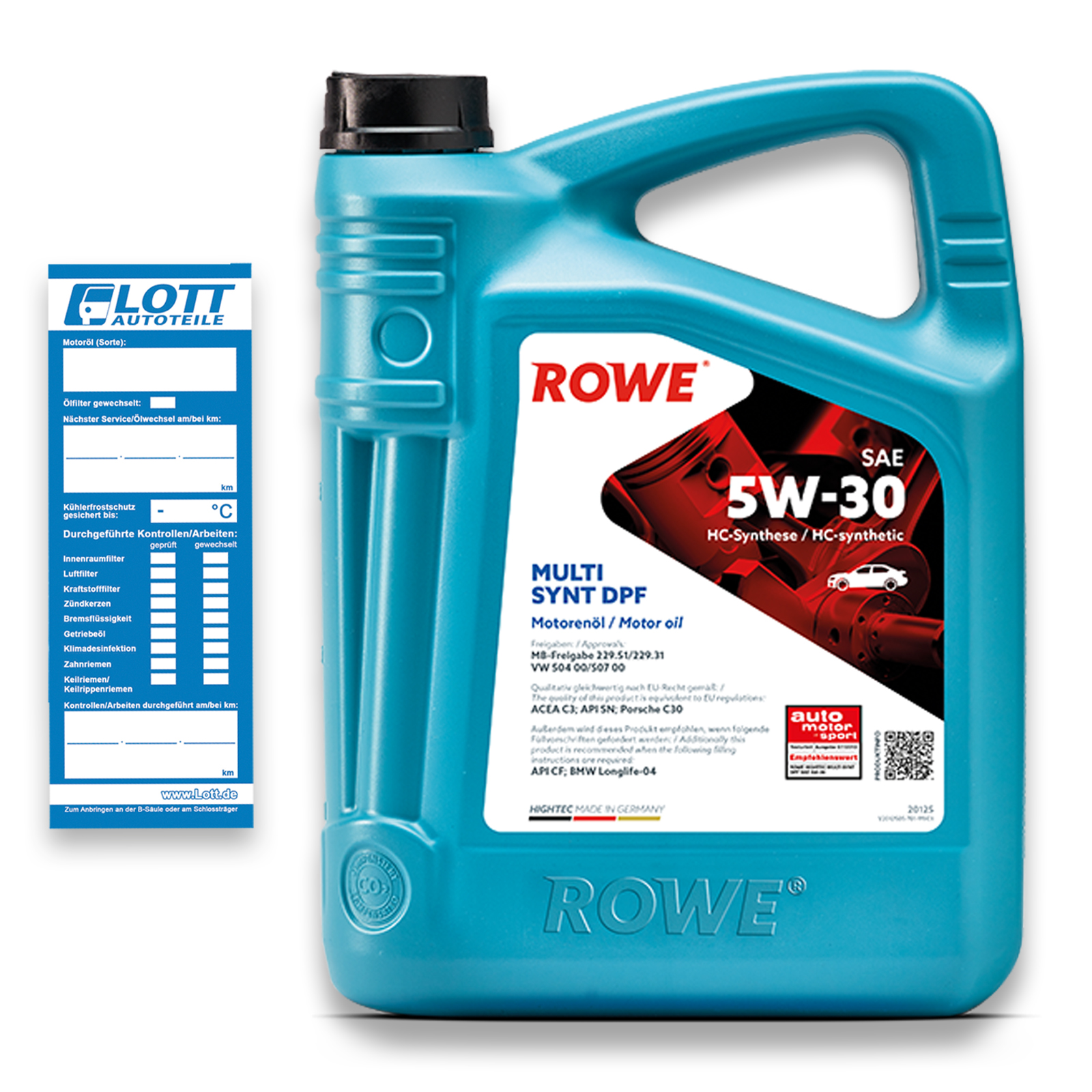 5L ROWE MOTORÖL HIGHTEC MULTI SYNT DPF 5W-30
