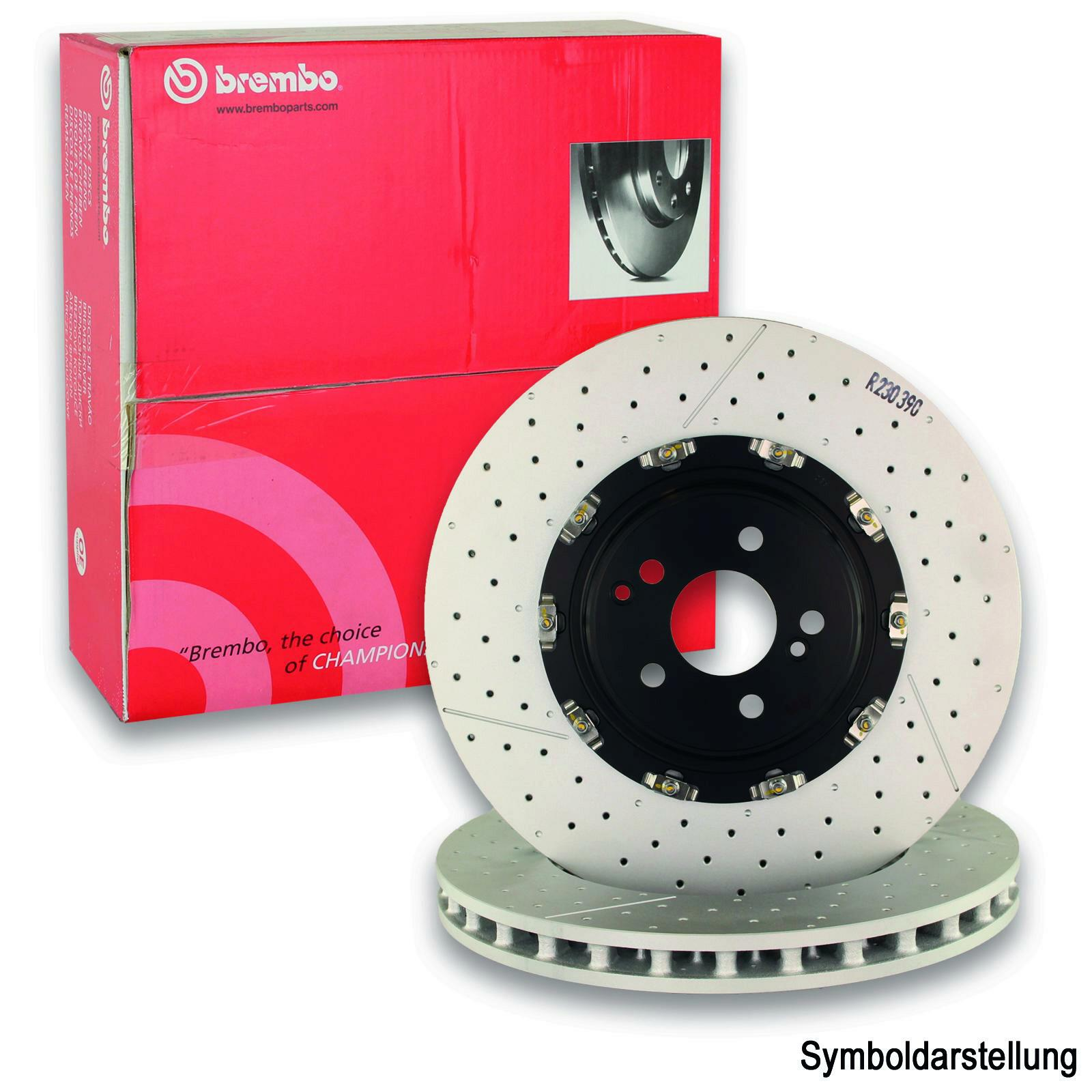 2x BREMBO Brake Disc TWO-PIECE DISCS LINE