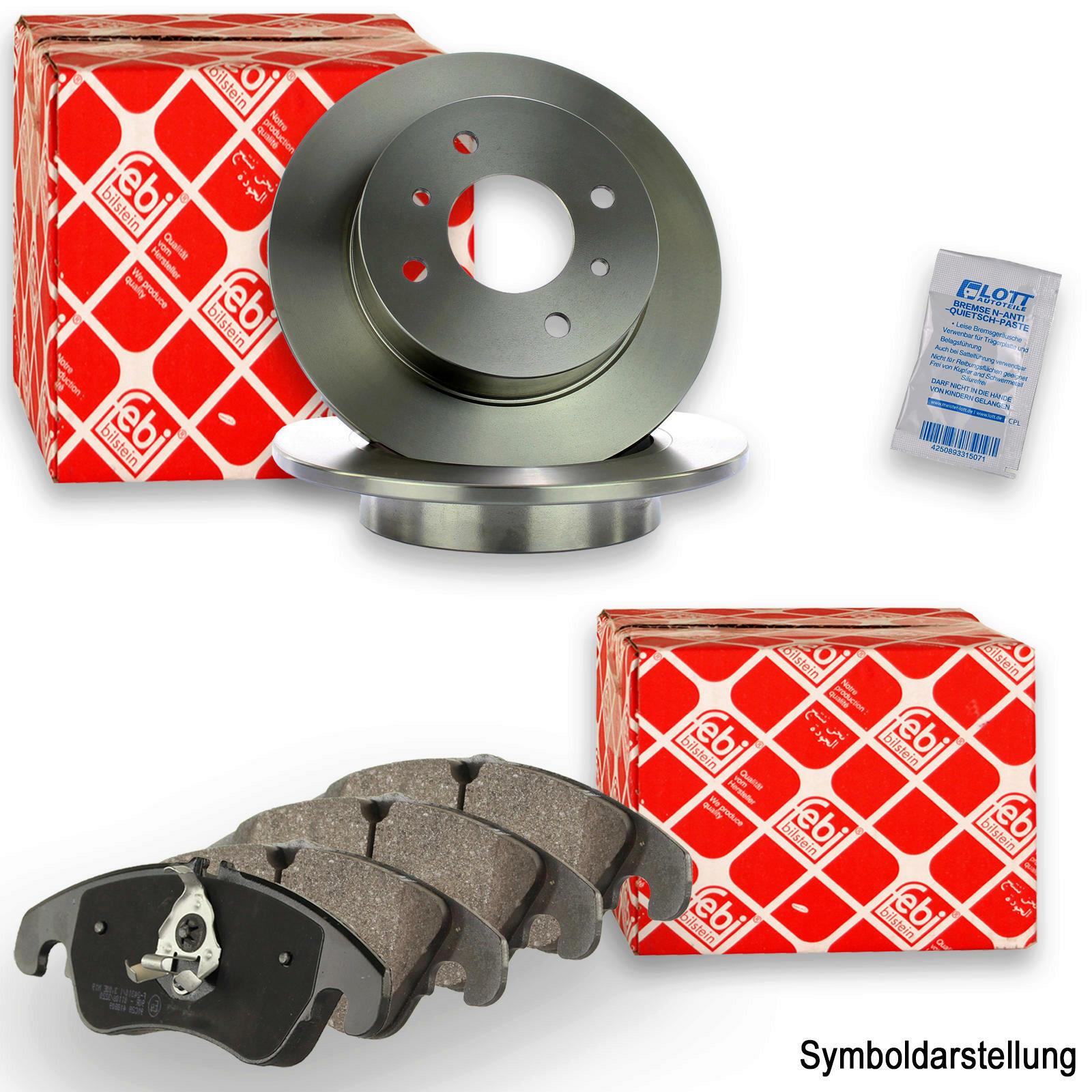 Bremsensatz Bremsen Set Kit hinten Ø 262mm System Mando für Hyundai i30 Kia Ceed