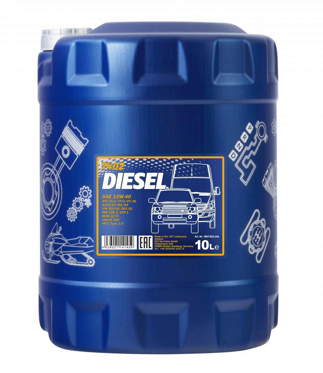 Mannol Diesel 15W-40 Motoröl 10L