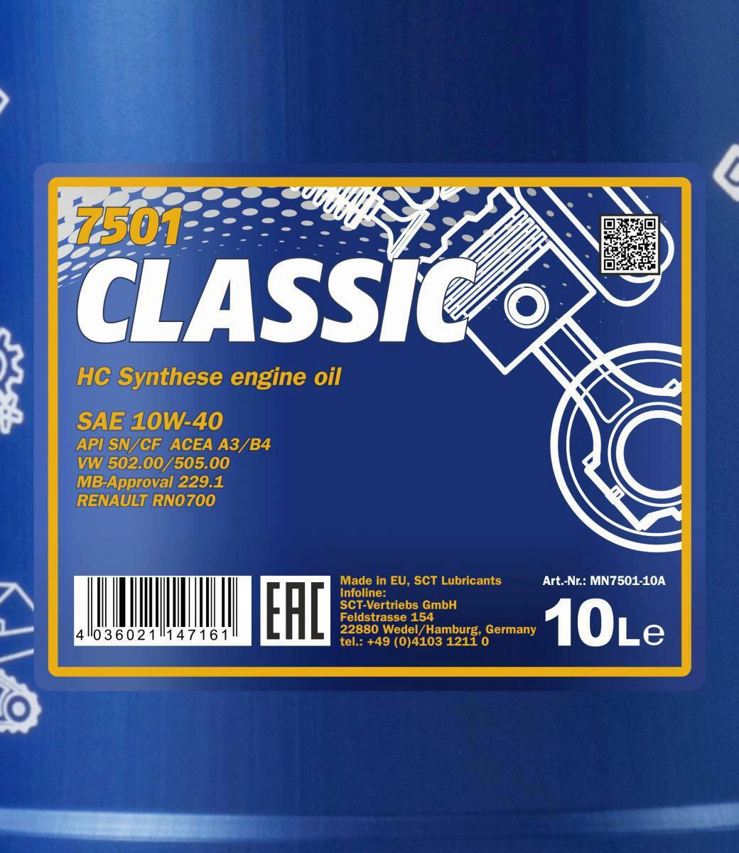 10L Mannol Classic 10W-40