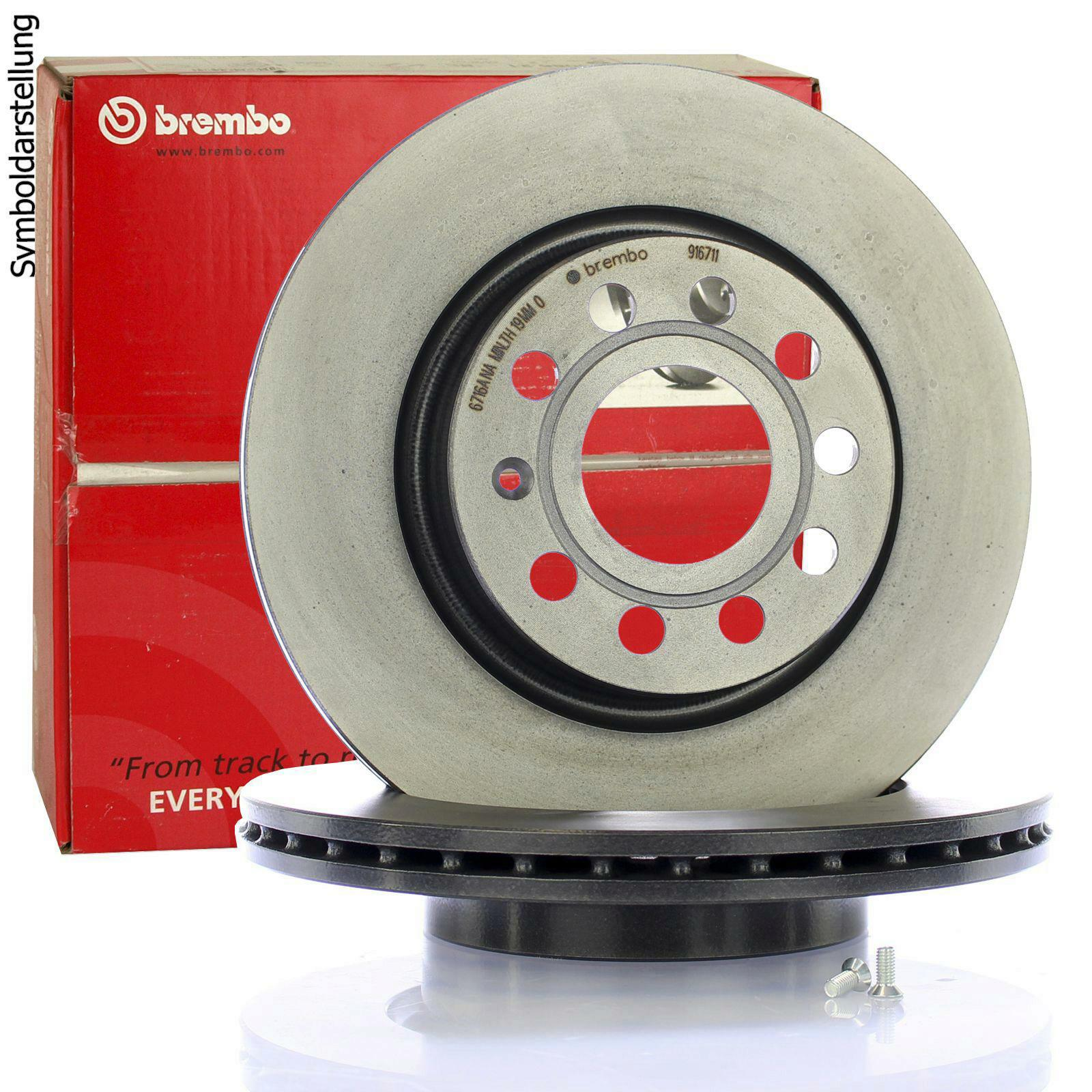 2x BREMBO Brake Disc COATED DISC LINE