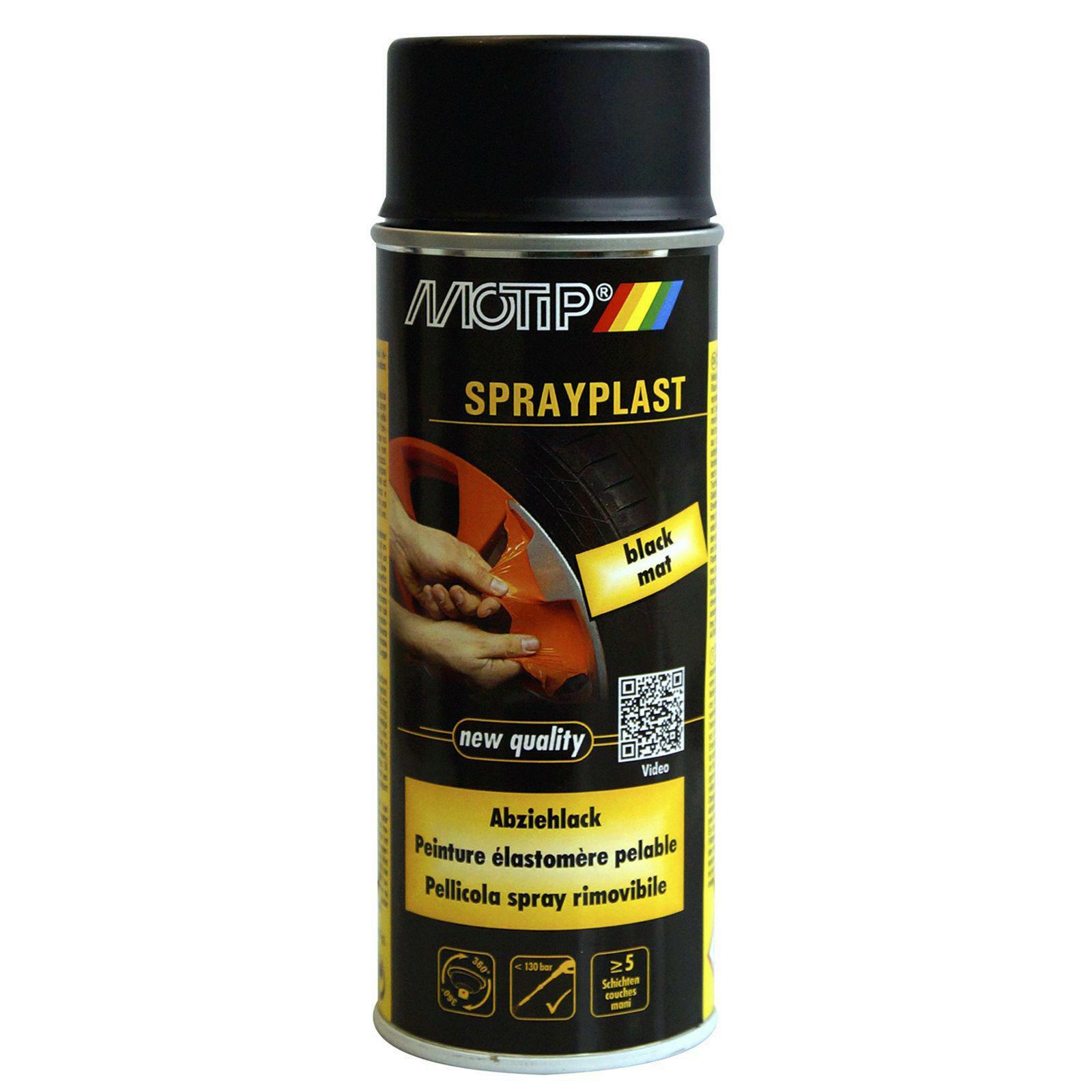 MOTIP Sprayplast Abziehlack schwarz matt 400ml