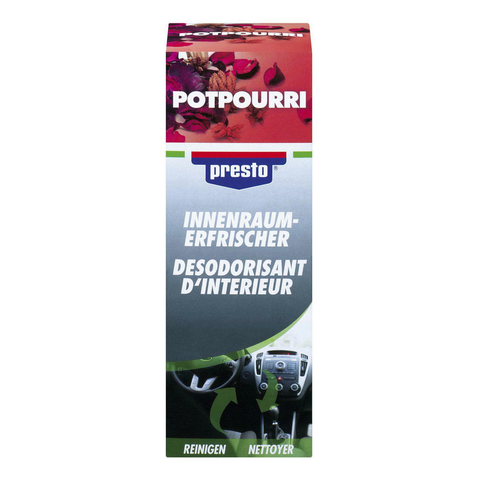 PRESTO Klimaanlagenreiniger/-desinfizierer Innenraumerfrischer potpourri 150
