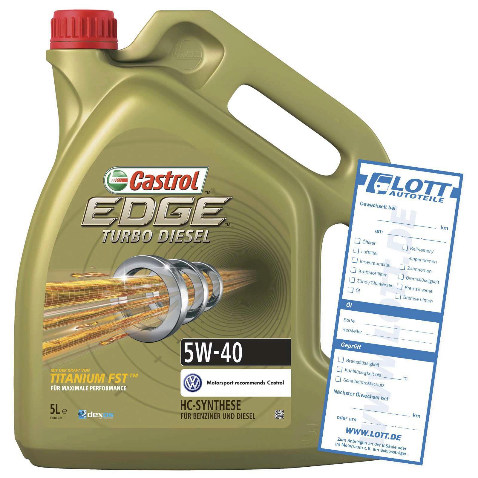 CASTROL Motoröl EDGE Titanium FST Turbo Diesel 5W-40 5L