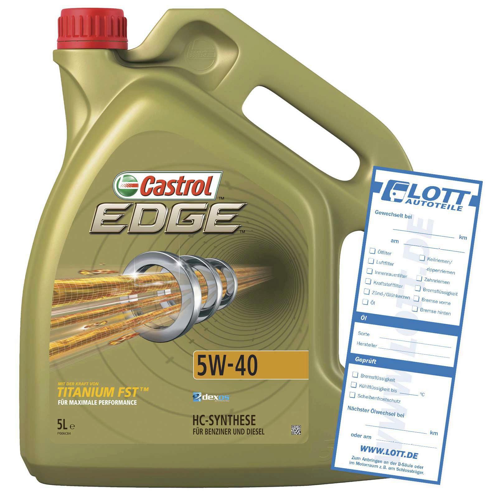 CASTROL Motoröl EDGE Titanium FST 5W-40 5L