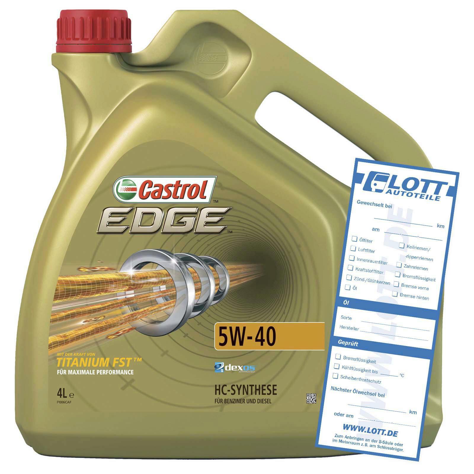 CASTROL Motoröl EDGE TITANIUM FST 5W-40 4L