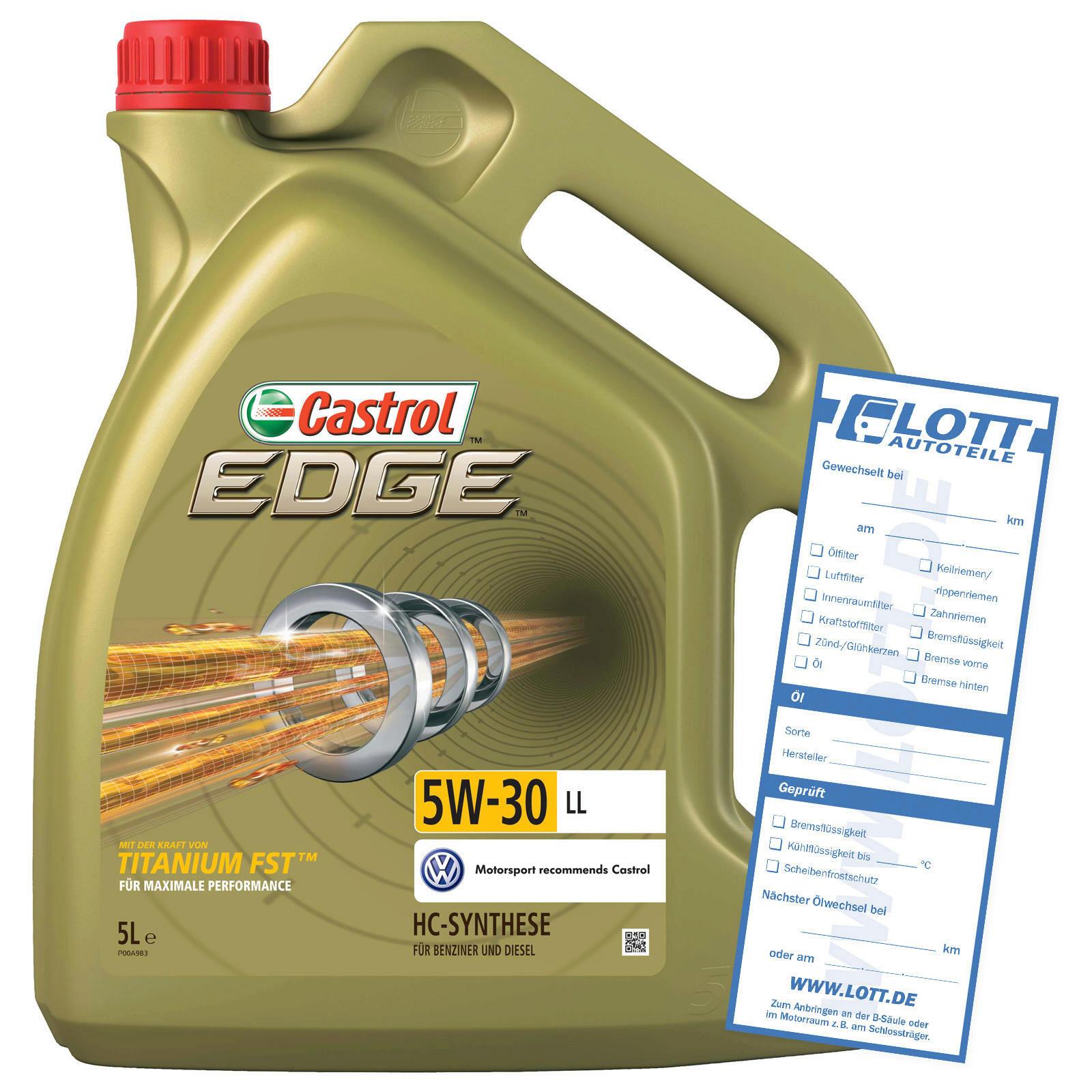 CASTROL Motoröl EDGE LL 5W-30 5L