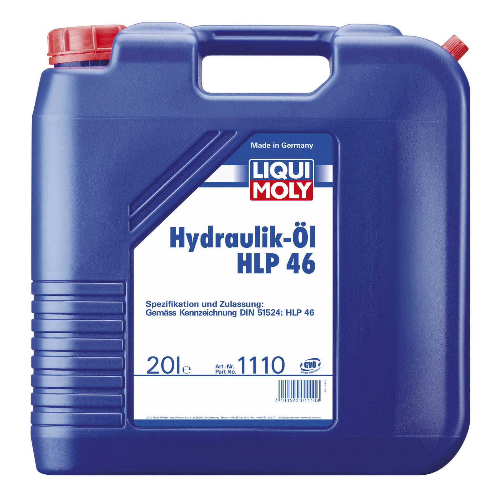 liqui moly hydraulik l hlp 46 20l lott autoteile. Black Bedroom Furniture Sets. Home Design Ideas