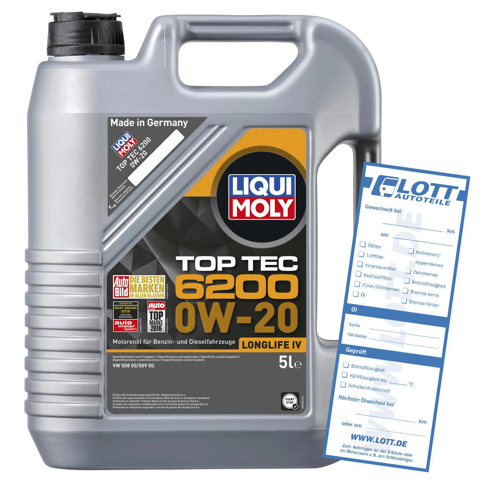 LIQUI MOLY TOP TEC 6200 0W-20 5L