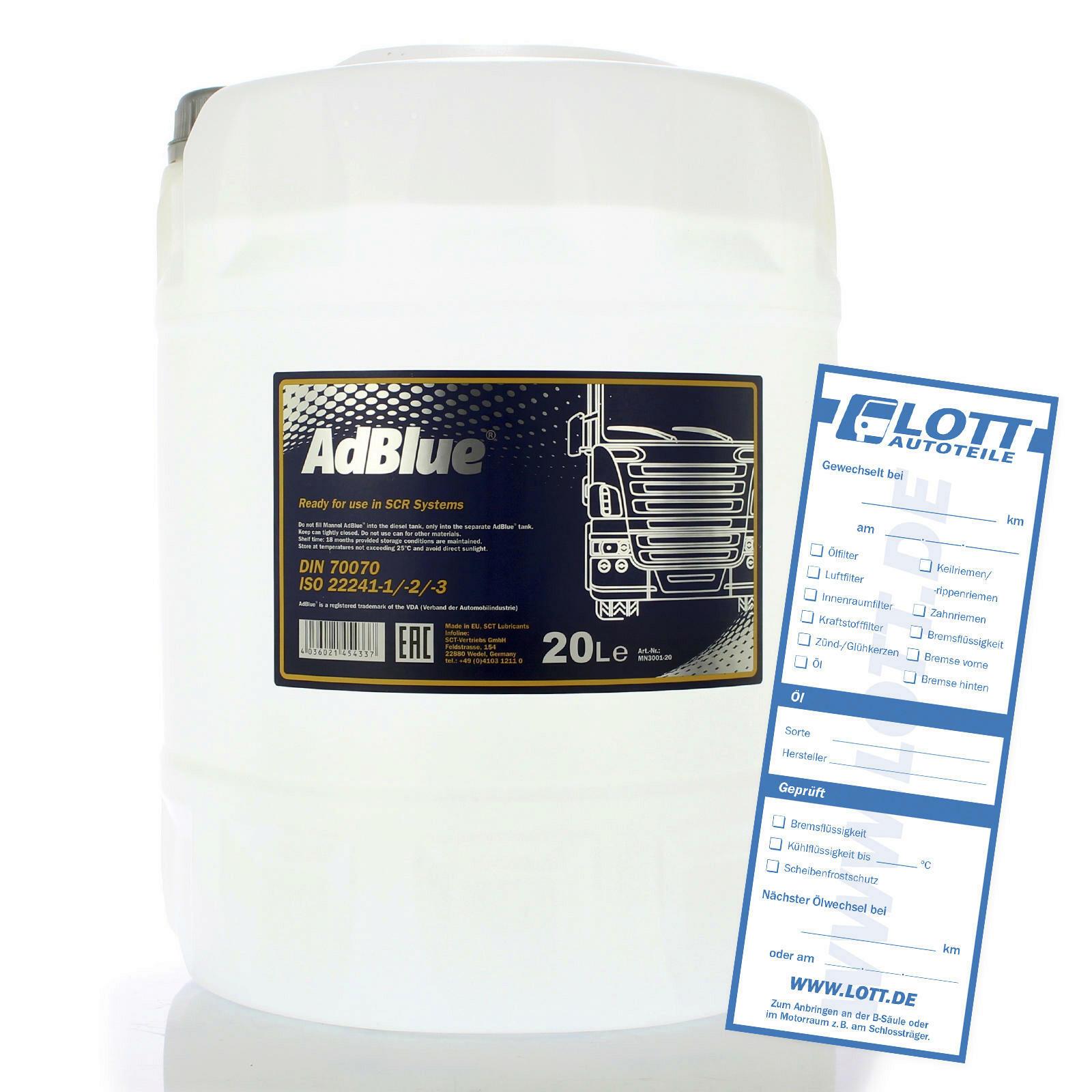 Mannol ADBLUE Dieseladditiv AD BLUE 20L