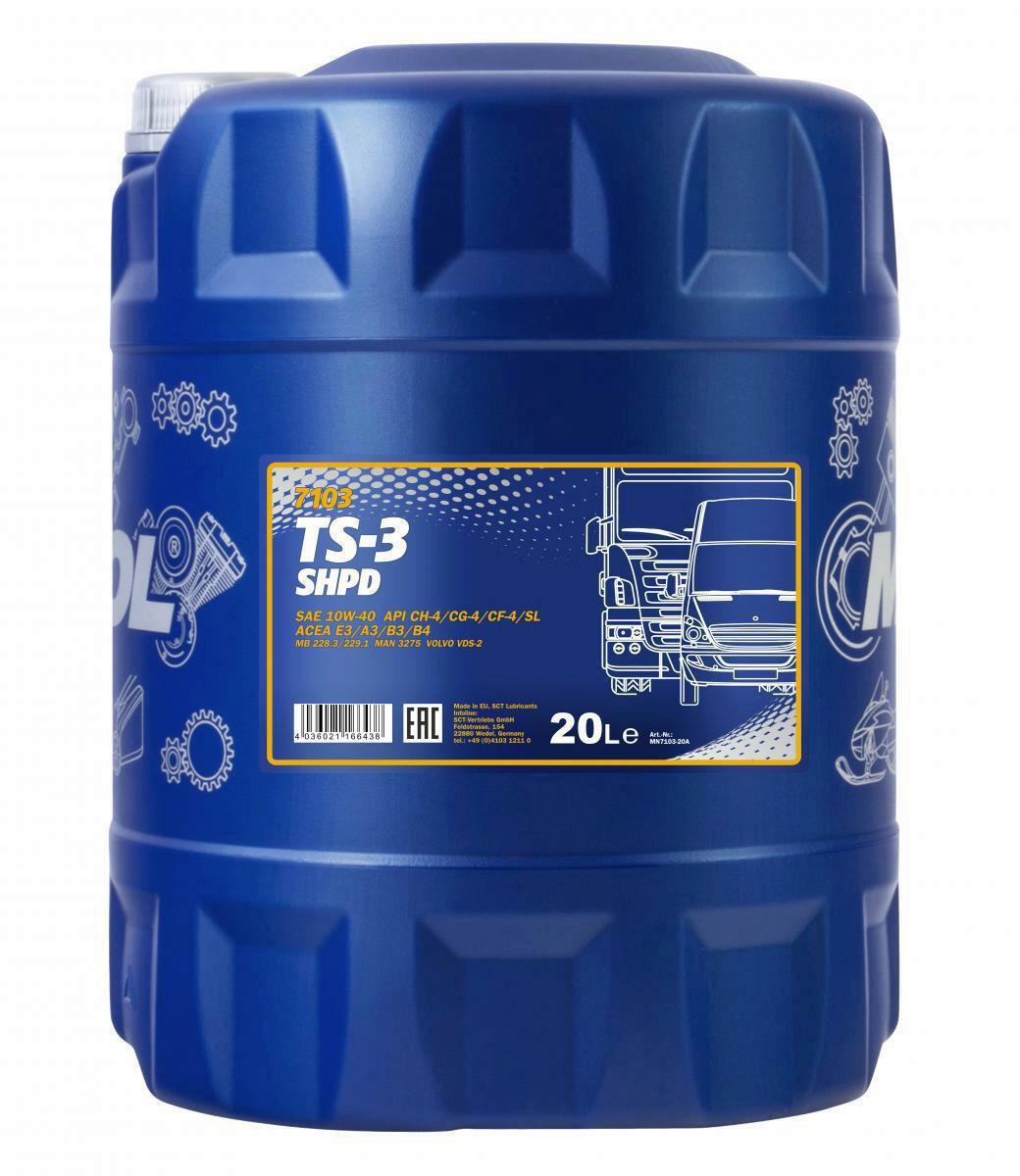 Mannol TS-3 SHPD 10W-40 Motoröl 20L