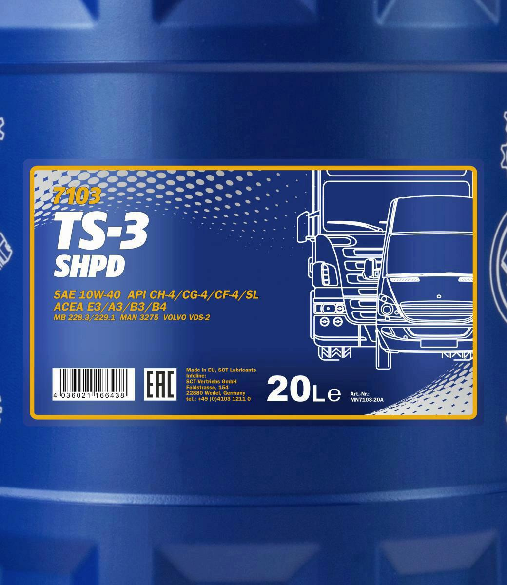 20l mannol ts 3 shpd motor l 10w 40 high performance. Black Bedroom Furniture Sets. Home Design Ideas