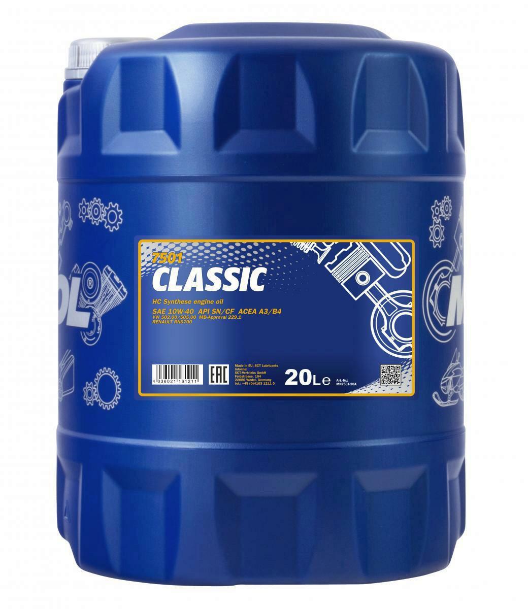 Mannol Motoröl Classic 10W-40 20L