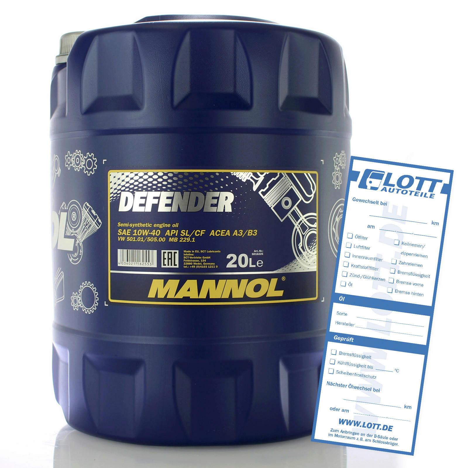 Mannol Defender 10W-40 20L