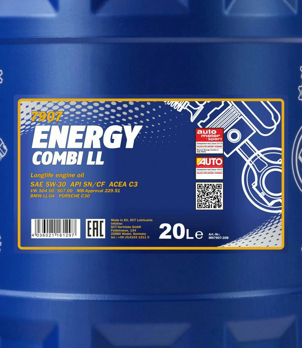 Mannol Motoröl Energy Combi LL 5W-30 20L